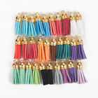 LOT 30Pcs Suede Leather Tassel DIY Keychain Pendant Jewelry Finding Charms