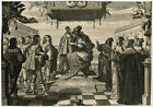 Antique Print HISTORY BIRTH DAUPHIN FRANCE Bosse 1638