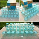 Anchor Hocking Finlandia Aquamarine Blue Glass Drinking 33 Pc Set Original Box