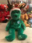TY Beanie Baby 2002 Holiday Teddy With Tag Retired   DOB: December 20th, 2001
