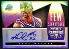 KARL MALONE 14-15 Panini Totally Certified SELECT FEW SIGNATURES AUTO #17 25 !