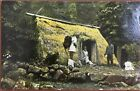 1911 Post Card Of A Native Grass Hut Honolulu Hawaii