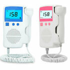 Fetal Doppler meter Baby Heart Beat Rate Monitor FHR LCD Probe Pink Blue NEW US