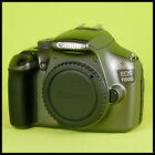 CLEAN Canon EOS 1100D Titanium Grey Digital SLR Camera + charger battery guide