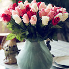 Real Touch Latex 10 Pcs Wedding Decor Bouquet Flowers Floral Bud Rose Artificial