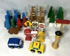 Thomas/ Brio Wooden Train  Accessories Lot of Trees, People, Street Signs