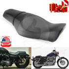 Two up Smooth Seat Passenger Driver Saddle For Harley Sportster 883 2005 2013