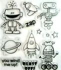 Space Robots  Sayings Clear Acrylic Stamp Set by Recollections 119952 NEW