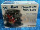 HUGE REVELL 1/6 SCALE PLYMOUTH 426 HEMI CUDA ENGINE HIGHLY DETAILED WITH SHAKER
