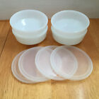 4 Federal Heat Proof USA White Cereal Bowls 4-1/2