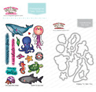 HAPPY TO SEA YOU Clear Stamp Die Set The Greeting Farm Stamping Craft Ocean