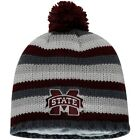 Mississippi State Bulldogs adidas Textured Knit Beanie with Pom - Maroon