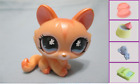 Littlest Pet Shop Crouching Cat Shimmer 870 Free Accessory Authentic Lps