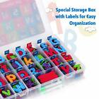 Magnetic Alphabet Letters  Numbers with Double Sides Dry Erase Board for Kids