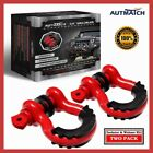Universal Car Jeep Ring Shackles With Isolator  Washers Kit For Tow Strap Winch
