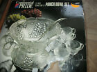 Vintage 26 Pc Punch Bowl Set Cups Hangers Grapes Leaves Continental Pride brand