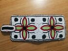 Authentic Old Native American Handmade Glass Beaded Leather Wallet Never used
