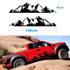 1Pair 43cmx198cm Car SUV Off Road Snow Mountain Vinyl Decal Stickers Waterproof