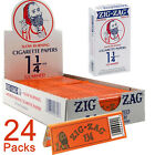 Zig Zag Orange 1 Cigarette Rolling Papers Full Box 24x Booklets 32 Leaves