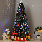 6 Pre Lit Fiber Optic Artificial Christmas Tree Colorful Led Lights Decorations