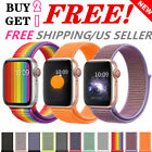 Woven Nylon Band For Apple Watch 38 42 40 44mm Sport Loop iWatch Series 4 3 2 1