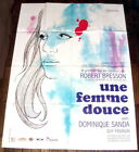A GENTLE WOMAN Robert Bresson Dominique Sanda Dostoevsky LARGE French POSTER