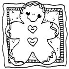 Unmounted Rubber Stamps Set Gingerbread Man Mittens Christmas Stamps Winter