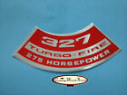 Chevy Chevrolet 327 Turbo-fire Air Cleaner Decal Horsepower Choice