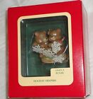 CARLTON HEIRLOOM ORNAMENT ~ HOLIDAY HELPERS ~ BEARS with SNOWFLAKES ~ 1992 *NRFB