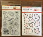 Photo Play MAD 4 PLAID FALL Autumn Theme Clear Polymer Stamps  Etched Dies Set