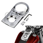 Chrome Dash Panel Insert Cover For Harley Dyna Softail Fat Boy Night Train FXST