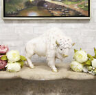 Large Native American Sacred White Bison Buffalo Bull Decorative Statue 165L