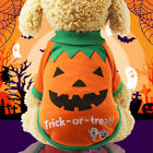 Small Pet Dog Puppy Halloween Pumpkin Witch T Shirt Clothes Costumes Apparel US