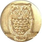 Owl Wax Seal Stamp 3 4 brass seal  handle Handcrafted