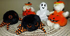 Halloween Ty Beanie Babies Crawly Carver Sheets Lot Spider Ghost Retired Tags