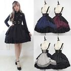 Women Classic Lolita Drapery Dress Medieval Vintage Frill Frock Cosplay Costume