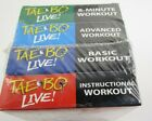 Lot Of 4 Billy Blanks Tae Bo Live Workout 4 Pack VHS Video Cassette Tapes