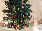 Georges Briard Christmas 3  Double Old Fashioned Glasses Vintage Christmas Trees