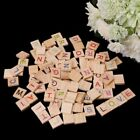 100pcs Wooden Scrabble Tiles Colorful Letters Numbers For Wood Alphabet Toy DIY
