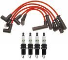 Professional Ignition Wire Set  4 ACDelco 035 Spark Plugs Kit For Jeep TJ L4
