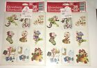 Strawberry Shortcake Vintage Seals Self Stickers 2 Packages Christmas 1982