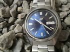 SEIKO 5 Automatic 7S26-3040 Day Date Edelstahl 37 mm 70er Jahre 1970s