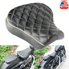 Front Driver Solo Seat Cushion Leather Pad Pillow For Harley Sportster 1983 2003