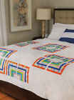 Bold  Bright Finished Size 73x93 Quilt pattern only