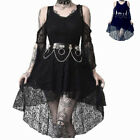 Women Gothic Lolita Lace Dress Vintage See-through Witch Vampire Cosplay Dress
