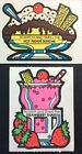 vintage stickers scratch and smell hot fudge strawberry shake