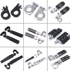 Black 32mm Highway Foot Pegs Pedals For Harley Touring Road King Street Glide US