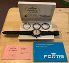Men's FORTIS FLIPPER Wristwatch December 1969 w/ORIGINAL BOX & BEZELS