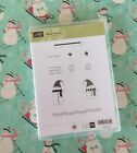 Stampin Up Rubber Stamps Merry Winter Christmas Clear Mount Set Snowmen Sled