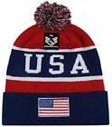 Embroidered USA Patriotic Red White Blue American Beanie Stocking Watch Cap Hat